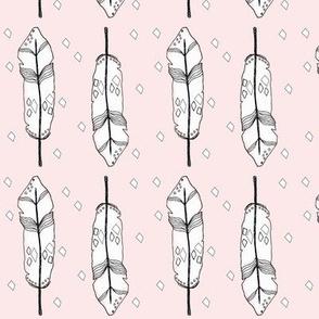 pink feather - elvelyckan