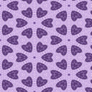 Patchwork in Purple: Hearts as Flowers