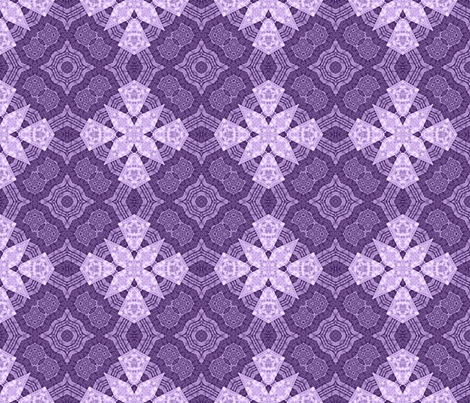 Patchwork in Purple: Something Different fabric by tallulahdahling on Spoonflower - custom fabric