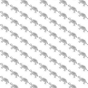 Tiny Turtles Black and White