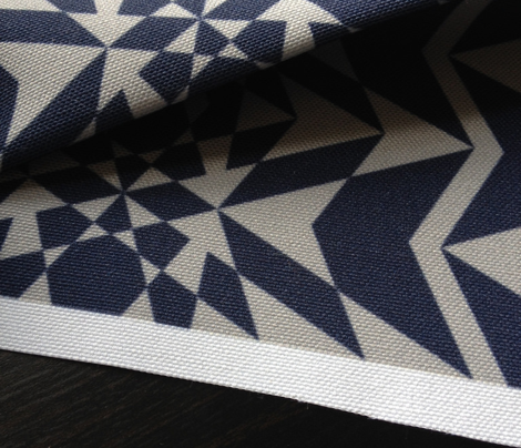 Geo Triangles in Navy and Pale Grey