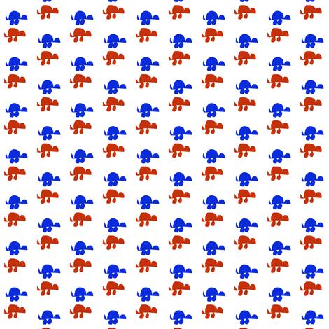 Red Turtle Blue Turtle fabric by eve_catt_art on Spoonflower - custom fabric