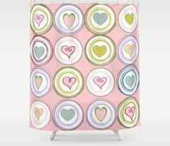 Badge of Hearts-LG pink