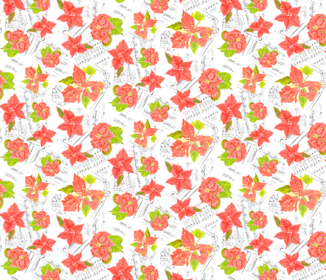 Christmas Poinsetta fabric by blairfully_made on Spoonflower - custom fabric