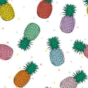 Colourful Pineapples