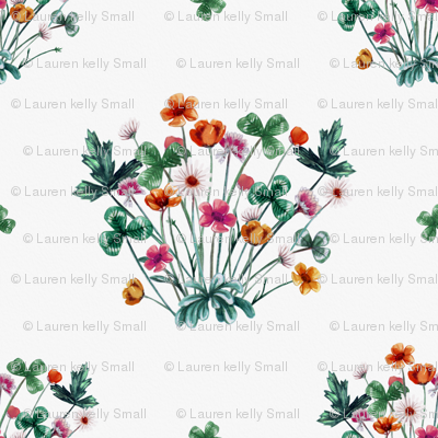 Meadow Floral on White