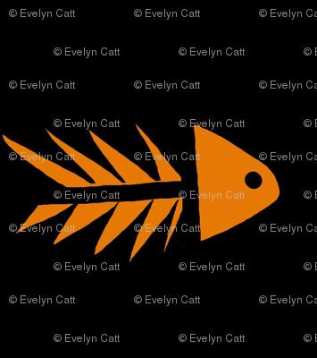 Fish Fossil Orange