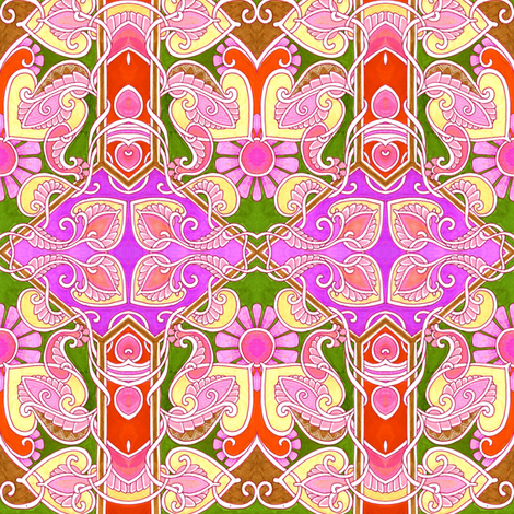 Girl Flower fabric by edsel2084 on Spoonflower - custom fabric