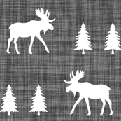 moose trot // on charcoal linen // oversized