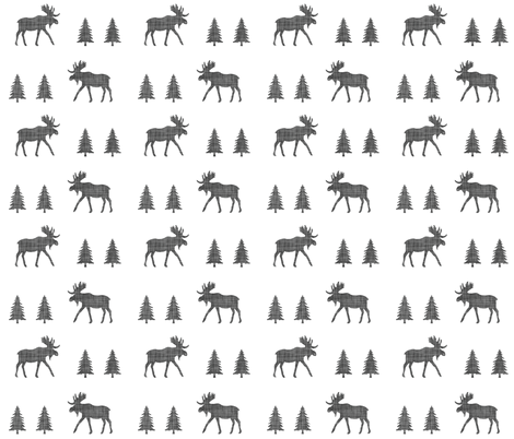 moose trot // in charcoal linen // oversized fabric by ivieclothco on Spoonflower - custom fabric