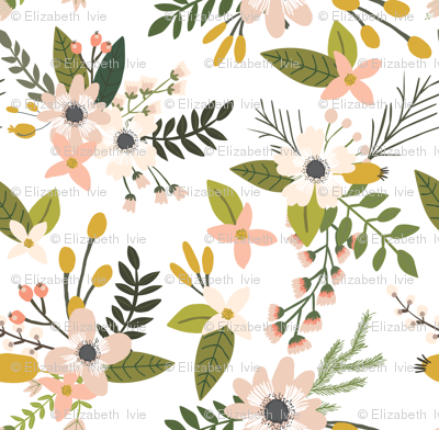 sprigs and blooms // blush // extra small