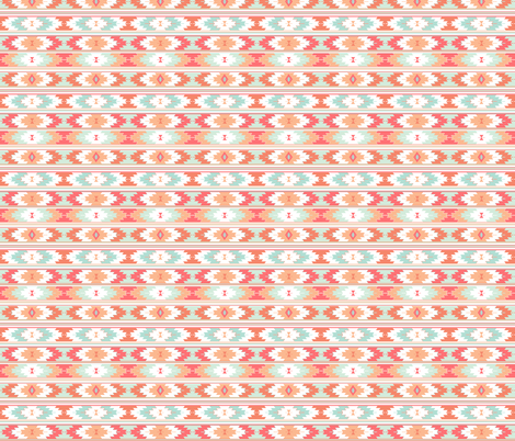 coral kilim // small  fabric by ivieclothco on Spoonflower - custom fabric