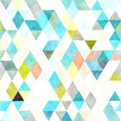 robin's egg watercolor triangles // small