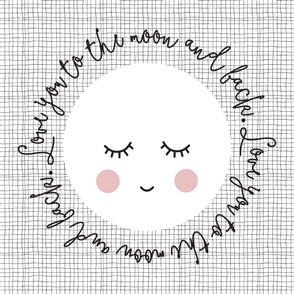 baby blanket // love you to the moon and back // blush