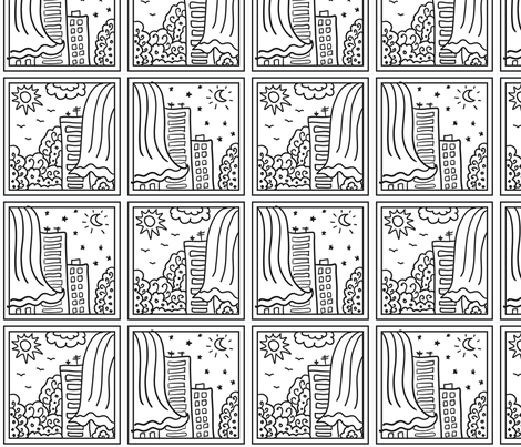 Day and night landscape fabric by milta on Spoonflower - custom fabric