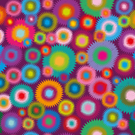 Vivid Flowers-5 fabric by leventetladiscorde on Spoonflower - custom fabric