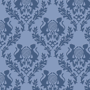 Blue Damask Cats