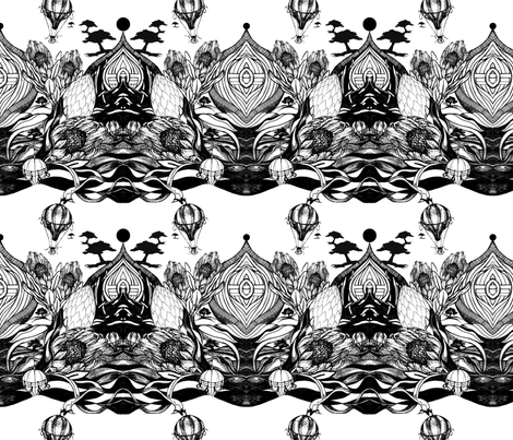 Our_neighbourhood_repeat_pattern_design2 fabric by hkd on Spoonflower - custom fabric