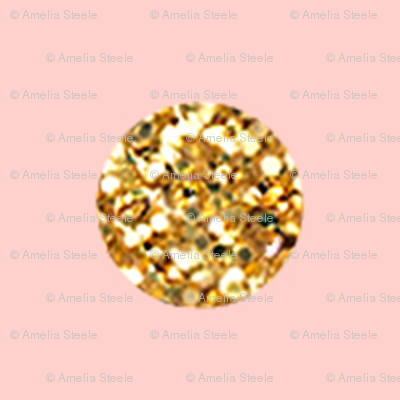 Tiny Pink Glitter Polka Dot in Pink