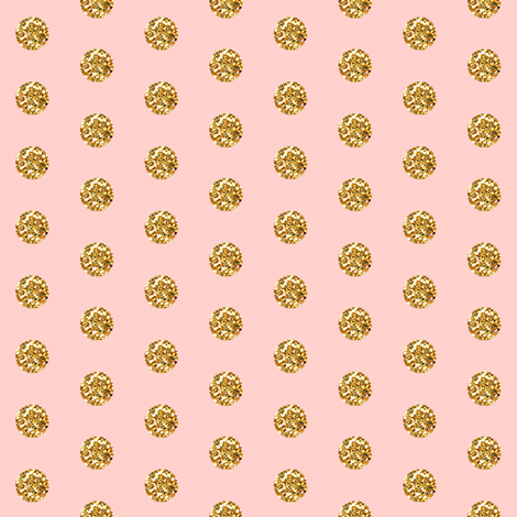 Tiny Pink Glitter Polka Dot in Pink fabric by willowlanetextiles on Spoonflower - custom fabric
