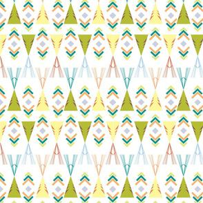 Wigwam greens and yellows