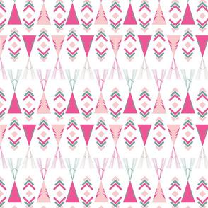 Wigwam pinks and greens