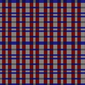 red navy and gray plaid
