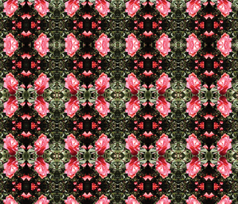 Roses Coral fabric by ströva on Spoonflower - custom fabric