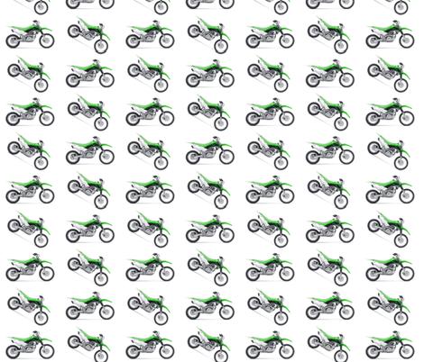 Motocross Green Dirt Bikes  fabric by klinkermade on Spoonflower - custom fabric
