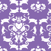 Playful Feline Damask