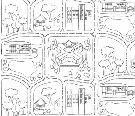 My_Neighborhood fabric by plaid_thursdays on Spoonflower - custom fabric