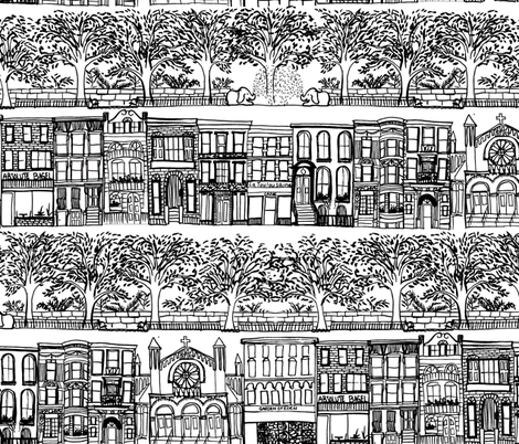 Upper West Side - New York fabric by emilysanford on Spoonflower - custom fabric