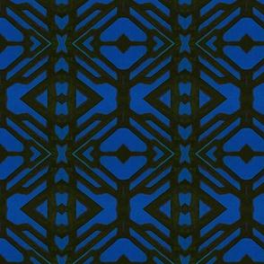block print black/blue