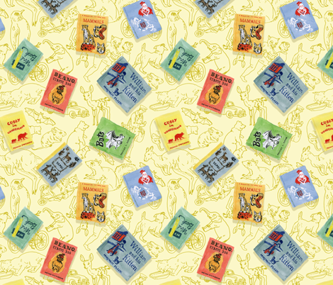 Vintage Children's Books fabric by imaginaryanimal on Spoonflower - custom fabric