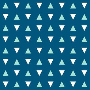Turquoise Blue Triangles - Small