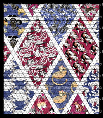 Child Sized Cheater Quilt Top Fabric Pond Ripple