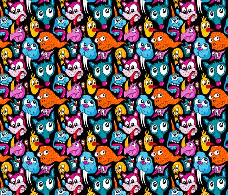 Weird Dudes fabric by chrispiascik on Spoonflower - custom fabric