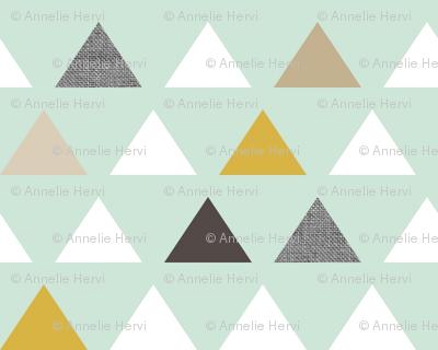 mod aqua triangles quarter scale