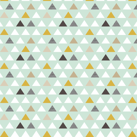 mod aqua triangles quarter scale fabric by mrshervi on Spoonflower - custom fabric