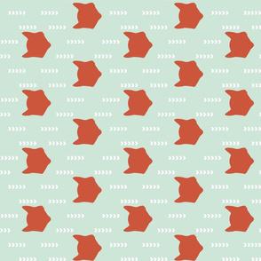 Mint Red Fox 90 deg