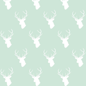 White Deer On Mint