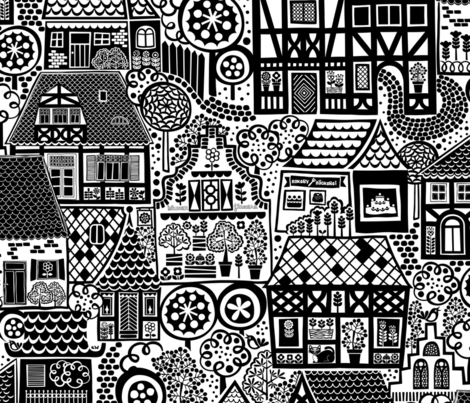 Old Town Nostalgia fabric by christinewitte on Spoonflower - custom fabric