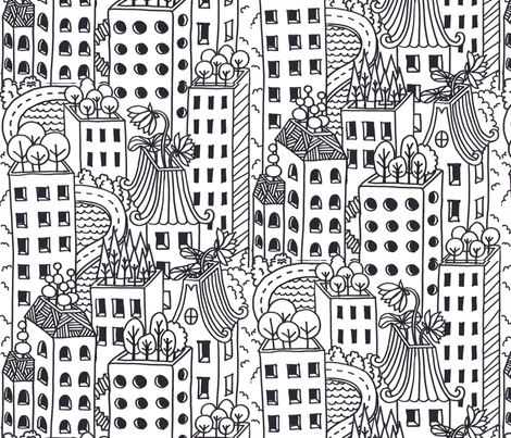 Hello! Neighbour fabric by meliszawang on Spoonflower - custom fabric