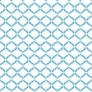 Eyelet Crochet Lace Blue White