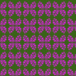 Eyelet Crochet Lace Purple Green