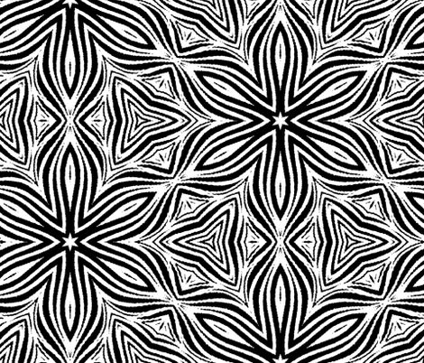 Large scale black and white flower fabric jabiroo spoonflower large scale black and white flower fabric by jabiroo on spoonflower custom fabric mightylinksfo