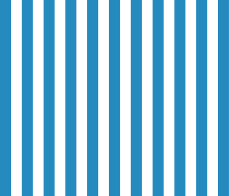 Willow White and Blue 2 Stripes fabric by anniedeb on Spoonflower - custom fabric