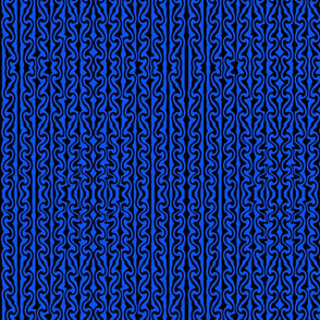 Vertical meled stripes black and blue