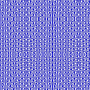 Vertical melted Stripes blue and white