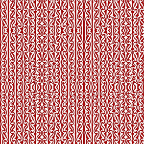 Vertical Melted Stripes red and white